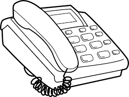 Telephone Clipart Black And White telephone clipart black and