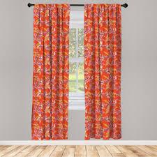 gardine fensterbehandlungen 2 panel set für wohnzimmer schlafzimmer dekor abakuhaus blumen glücklich warm blumenmuster kaufen otto