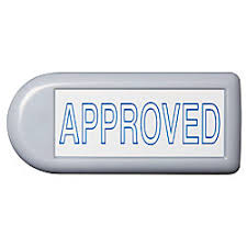 fice Depot Brand Pre Inked Message Stamp Approved Blue by fice