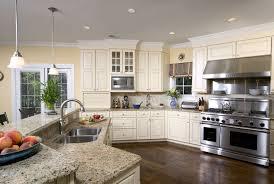 santa cecilia light granite kitchen transitional with gray walls