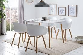 esszimmer essgruppe 5 tlg weiß weiß günstig möbel küchen büromöbel kaufen froschkönig24