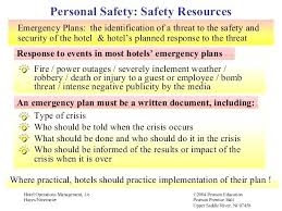 Hotel Crisis Management Plan Template Monster Login Safety Security Functional