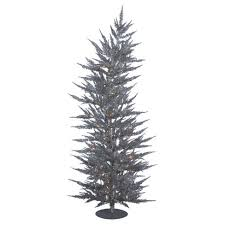 3ft Pre Lit LED Pine Artificial Christmas Tree Slim With White