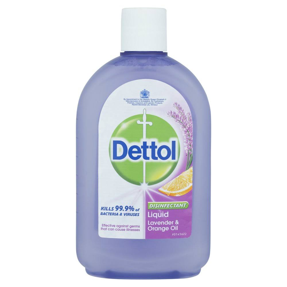 Dettol Disinfectant Liquid - Lavender and Orange Oil, 500ml