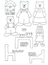 Free Finger Puppet Print Outs For Many Of The Classic Fairy Tales Goldilocks And Three