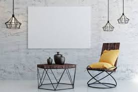 modern living room interior with seat coffee table and