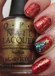 Saran Wrap Christmas Tree With Ornaments by Christmas Nail Art Idea Round Up Adventures In Acetone