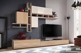 formera tv wohnwand neapel beige hochglanz schrankwand wohnzimmerwand anb