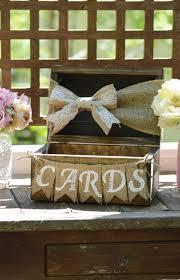 Rustic Card Box For Wedding Burlap Shabby Chic Holder Wooden Chest Banner Barn Reception Decor Baby Shower