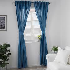 amilde 2 gardinen raffhalter blau 145x300 cm