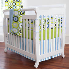 Bratt Decor Crib Skirt by Crib Bedding Green And Blue Baby Crib Design Inspiration