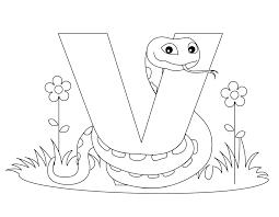 Coloring Download Letter V Pages Preschool Archives Best