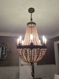 Interesting Pottery Barn Elena Wood Beaded Chandelier About ... Pottery Barn Clarissa Glass Drop Medium 19 Round Crystal Candle Chandelier And Chandeliers Rectangular By Ding Room Marvellous Style Rooms 4132239 Small Antique Best 25 Barn Chandelier Ideas On Pinterest Bronze Earrings Musethollective Extra Long Fniture Design 104 Mesmerizing Extralong