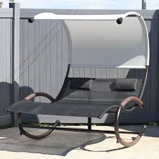Patio Swings With Canopy by Coral Coast Del Rey Double Chaise Lounge With Canopy Hayneedle