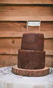 For The Couple That Loves Chocolate This Two Layered Rustic Style Cake