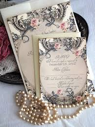 Vintage Wedding Invitations Etsy
