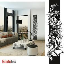 details zu wandtattoo banner blumen ranke ornament flur deko wohnzimmer wandsticker d307c