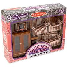 Barbie Living Room Set by Dollhouse Furniture Toys