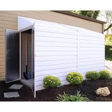 Suncast Horizontal Storage Shed 32 Cu Ft by 10x12 Wood Sheds