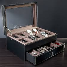 Mens Dresser Top Valet by Treviso Leather Valet Box And Ten Watch Display Case Engravable