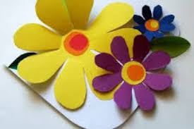 Handmade Greetings Card With Paper Flowers