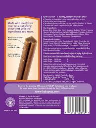 Pumpkin Rice For Dog Diarrhea by Amazon Com Halo Spot U0027s Chew Holistic Dog Dental Treats Yummy