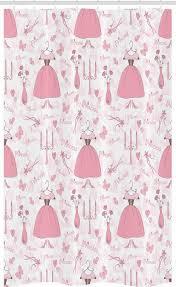 abakuhaus duschvorhang badezimmer deko set aus stoff mit haken breite 120 cm höhe 180 cm rosa princess mystic kerzen kaufen otto