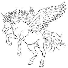 How To Draw Pegasus Wings Coloring Pages For Kids Realistic Unicorn With Step6