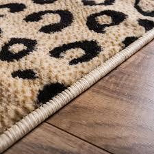 Leopard Black Animal Print Rug Well Woven