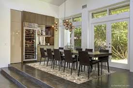 Cool Modern Dining Room With Chandelier Amp Built In Bookshelf Del Mar Ca Zillow