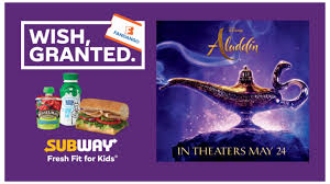 Free Aladdin Child's Ticket With Subway Kids Meal ... Huckberry Shoes Coupon Subway Promo Coupons Walgreens Photo Code December 2019 Burger King Coupons Savings Deals Promo Codes Save Burgers Foodpanda July 01 New Promo Here Got Sale Singapore Miami Subs 2018 Crocs Canada Details About Expire 912019 Daily Deals Uber Eats Offers 70 Off Oct 0910 The Foodkick In A Nyc Subway Ad Looks Like Its 47abc Ding Book Swap Lease Discount Online Actual Discounts Dominos Coupon Blog Zoes Kitchen June Planet Rock