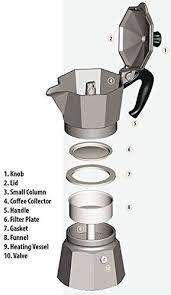 HSP Aluminium Stovetop Moka Pot