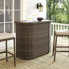 Outdoor Wicker Bar Height Stools Cushion Resin Cart Swivel ...