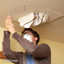 Patching Popcorn Ceiling Paint by Ceiling Texture The Family Handyman