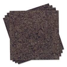 quartet cork tiles 15050q 4pk 12x12x3 8 dk cork kitchen