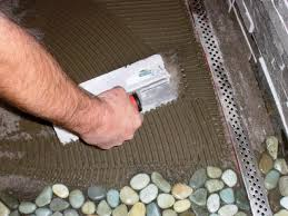 Sliced Pebble Tiles Uk by How To Lay A Pebble Tile Floor How Tos Diy