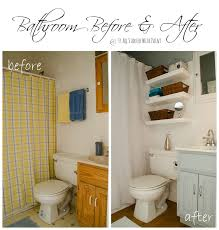 Small Bathroom Pictures Before And After by Blue And White Bathroom Small Space Solutions