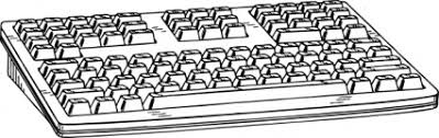 keyboard clipart black and white 4