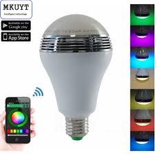 smart rgb multicolored e26 e27 dimmable led light bulb build in