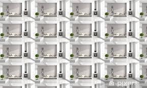 tapete minimalist wohnzimmer mit kamin