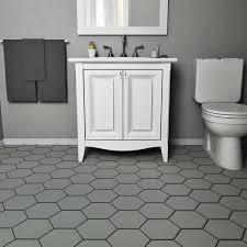 somertile 7x8 inch hextile matte grey porcelain floor and wall