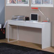 touch bureau informatique contemporain blanc brillant l 138 cm