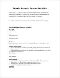 Interior Design Resume Template Word 99493 Cv Samples Pdf Curriculum