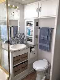 Attractive Small RV Bathroom Toilet Remodel Ideas