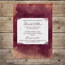 Burgundy Red Wine Watercolor Wedding Invitation Vineyard Winery Set Marsala Bordeaux Peach Cream And