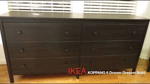 Hemnes Dresser Instructions 3 Drawer by Ikea Koppang Dark Brown 6 Drawer Dresser Assembly Youtube