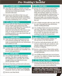 Pre Wedding Planning Checklist Pdf