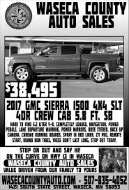 $38,495 2017 GMC Sierra 1500 4x4 SLT, Waseca County Auto Sales ... New 2019 Ford F150 For Sale Reno Nv Vin1ftmf1cb4kkc04259 2011 Used Dodge Ram 1500 Slt Quad Cab Pickup Iowa 80 Truckstop Paul Sarmento Owner One Stop Auto Sales Linkedin Featured Vehicles Petrus Lime Ridge 1 Of 2 Trucks Were Setting Up At Motorama Garys Sneads Ferry Nc Cars Trucks K R Suvs Vans Sedans For Sale N Shine And Detailing Home Facebook 2009 Chevrolet Silverado Lt Pine Grove Pa