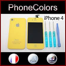 Yellow 4 4G iPhone Model A1332 GSM Full LCD Screen Display