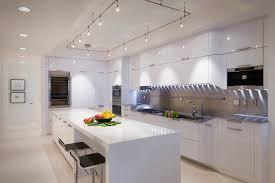 Hampton Bay Track Lighting With White Kitchen